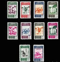 Spanish Morocco 1953, Complete set mint stamps MH. EDIFIL Nº  384/393