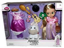 "Animator Rapunzel Gift Set 16"" Toddler Doll Maximus Pascal Disney Store Tangled"
