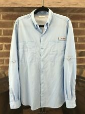 Columbia Mens Button Up Pfg Long Sleeve Shirt Sz Large Vented Omni-Shade Fishing