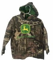 John Deere Boy's Camo Hoodie Hooded Sweatshirt - Size 4