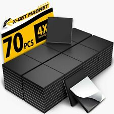 Magnetic Squares 1 Tape Flexible Magnetic Sheet Of 70 Self Free Shipping