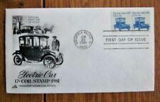 ELECTRIC AUTO TRANSPORTATION PNC#1 COIL PAIR #1906 ARTCRAFT  CACHET FDC VF UNADD