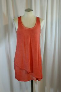 Pea in the Pod Maternity Coral Orange Crochet Back Stretch Fitted Short Dress XS