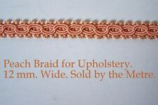 Peach/Pink Upholstery Braid (sold by the mtr) 12m wide
