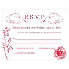 48 French Whimsy Custom Printed Wedding Response Cards