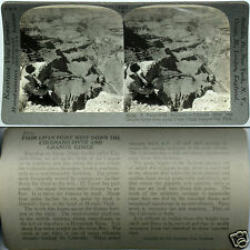 Keystone Stereoview of GRANITE GORGE, GRAND CANYON, AZ From 600/1200 Card Set
