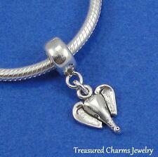 .925 Sterling Silver ELEPHANT HEAD Dangle Bead CHARM fits EUROPEAN Bracelet