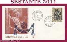 ITALIA FDC ALA 147 1966 DONATELLO ANNULLO FIRENZE H17