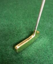 "Nice Vintage Jerry Barber Golden Touch #2 Polished Brass 2-Way Putter 35"" Long"