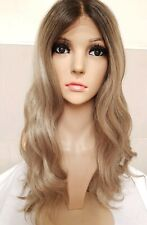 Sandy Mousey Dark Silver Blonde Real Human Hair Wig Lace Front