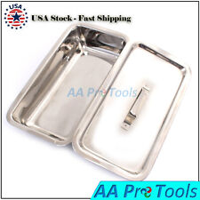 Surgical Instruments Sterilization Tray Box With Lid Size 8x6x2 Ss