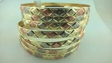 Gold Filled 7 Days bangle Bracelet 3 TONE Semanario de oro laminado (S,M,L,XL)