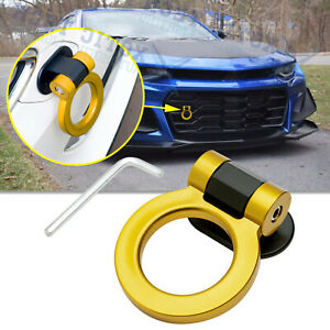 For Chevy Camaro Yellow Track JDM Sporty Racing Dummy Tow Hook Decoration Ring