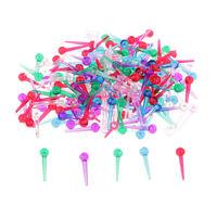 200pcs Assorted Color Plastic Sequin Pins for DIY Christmas Ornaments Craft