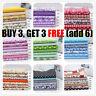 NEW 7 Pcs 100% Cotton Fabric Assorted Pre-Cut Fat Quarters Bundle DIY Decor