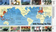 Stati Uniti/United States 1992 la seconda guerra mondiale 2 serie  mnh
