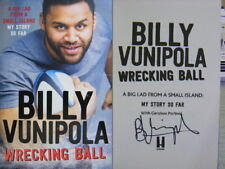 Signed Book Wrecking Ball - My Story So Far by Billy Vunipola Hdbk 2017 Rugby