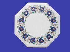 "12"" Marble Table Multi Color Stone Pietra Dura Handmade Home Furniture"