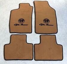 Autoteppich Fußmatten für Alfa Romeo 159 Cognac schwarz  Velours 4teilig Neuware