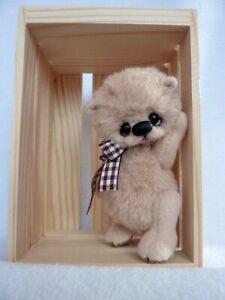 """Peppi"" -8cm miniature artist teddy bear by ""HappyTeddy"" Aleksandra J."