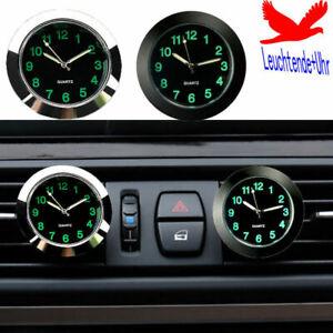 Auto Armaturenbrett Mini Uhr Kfz Nachtleuchtende Quarzuhr Datum LKW Boot KFZ DE