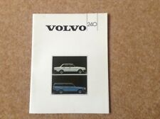 VOLVO 240 RANGE   BROCHURE 1983 French version