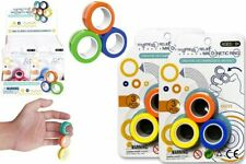 Stress Relief Magnetic Ring Fidget Spinner Toy - 3 Pieces