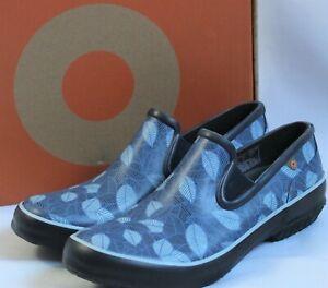 BOGS Women's Size 9 Patch Slip-On Leaf Navy Multi Waterproof Garden Shoes 72518