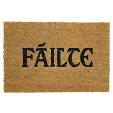 JVL Irish Gaelic Failte Natural Coir Latex Backed Door Mat - 40 x 60 cm