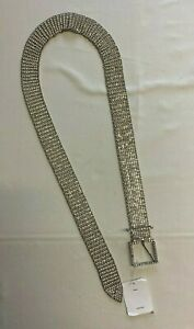 Urban Outfitters Silver Diamante Belt Brand New With Tags Free UK P&P