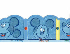 Disney Mickey Mouse Peel & Stick Wallpaper Border Nursery Baby Kid's room Decor