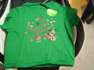 Old Navy Puppy's First Christmas Doggie T-shirt Size Medium Dog 100% Cotton NEW