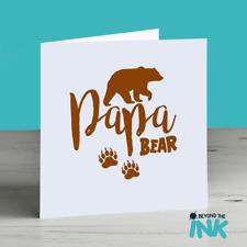 Cute Bear Card Fathers Day Card - Birthday Card For Dad - Papa - Daddy Bear