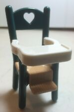 Fisher Price Loving Family 1993 Green High Chair Baby Kids