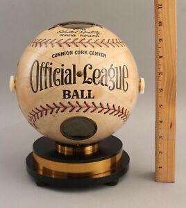 RARE Antique 1940s Trophy Official League Ball Baseball Globe Tube Radio NR