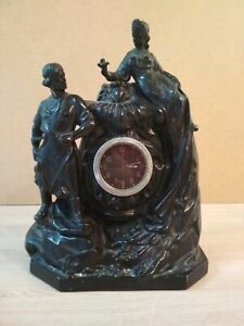 Mantel clock Mistress of the copper mountain and Danila master 1960s USSR.
