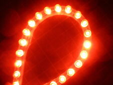 Super Bright 24cm Red LED Strip/Stripe DIY Car Neon Kit