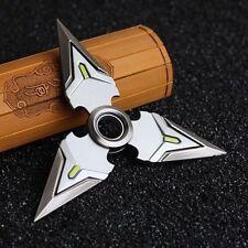 Shuriken Genji Ninja Hand Spinner Metal Fidget Ring Bearing Rotating Dart Toy*