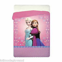Trapunta Invernale Disney Frozen Elsa Piumone 180x260cm Imbottitura 320gr/mq