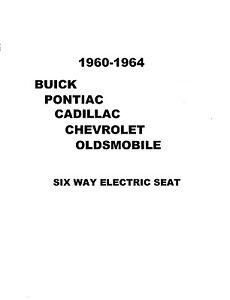 6 Way Power Seat Service 1960-1964 Buick Pontiac Cadillac Chevrolet Oldsmobile