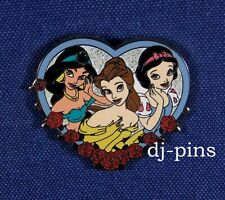 M&P Jasmine Belle and Snow White Princess Disney Pin 24027