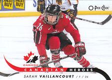 09/10 O-PEE-CHEE OPC CANADIAN HEROES CANADA SARAH VAILLANCOURT *3074