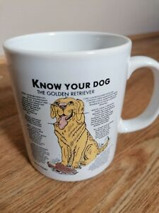 Personalised Dog Mugs KNOW YOUR DOG The Golden Retriever Novelty Gift Idea BIN