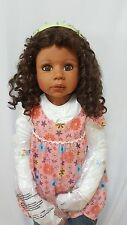 "RARE Masterpiece Doll Taylor by Monika Levenig 39"" Afro-American Doll All Vinyl"