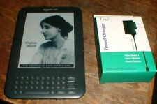 """CLEAN Amazon Kindle Keyboard 3 Wi-Fi, Cell,6"""" Model D00901 3rd Generation"""
