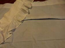 lot 2piéces ,drap berceau ,bleu +volants tour de berceau blanc