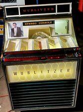 1965 Vintage Wurlitzer Jukebox Model 3000 45rpm Records Watch Video Free Ship