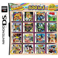 500 in 1 Games Card Cartridge Multicart For Nintendo DS NDS NDSL NDSi 3DS 2DS US