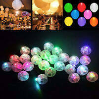 Round LED Flash Ball Lamps White Balloon Lights for Wedding Party Decoration