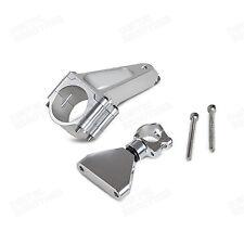 Silver CNC Steering Damper Mounting Kit For Honda CBR600 F4i PC35 01 02 03 04-07